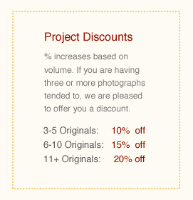 Project discounts are available